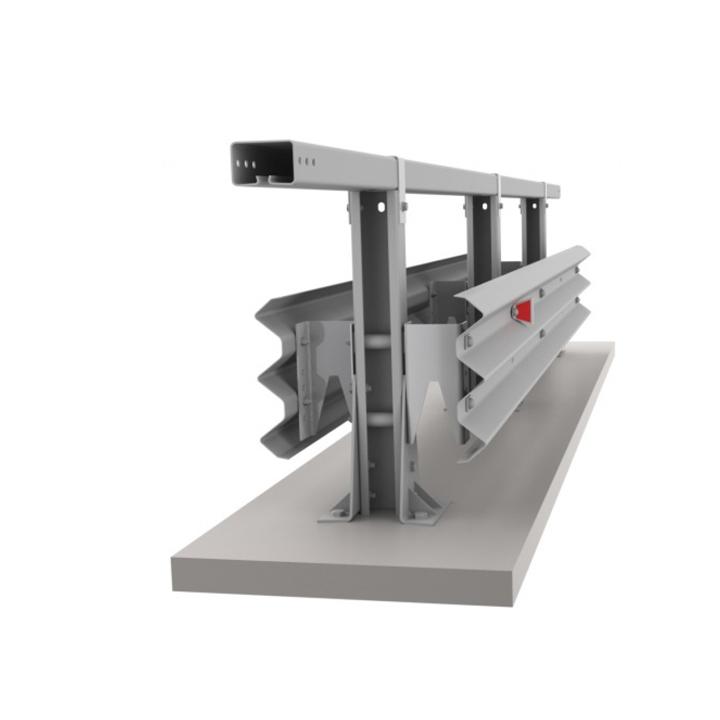 Мостовое двухстороннее ограждение 11МД/У5-350-1,1-1,5